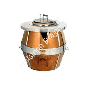 Copper gas tandoor by het singh prajapati